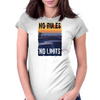 Longboard Skateboard No Rules No Limits Womens Fitted T-Shirt