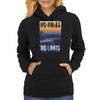 Longboard Skateboard No Rules No Limits Womens Hoodie