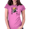 Longboard Skateboard Skully Skate or Die Womens Fitted T-Shirt