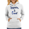 Longboarding is Cool Blue Womens Hoodie