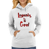 Longboarding is Cool - Red Womens Hoodie