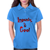 Longboarding is Cool - Red Womens Polo