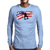 Longboarding Skateboarding in USA Mens Long Sleeve T-Shirt
