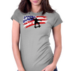 Longboarding Skateboarding in USA Womens Fitted T-Shirt