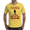 LOOK SHE'S RUNNING AWAY Mens T-Shirt
