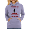 LOOK SHE'S RUNNING AWAY Womens Hoodie