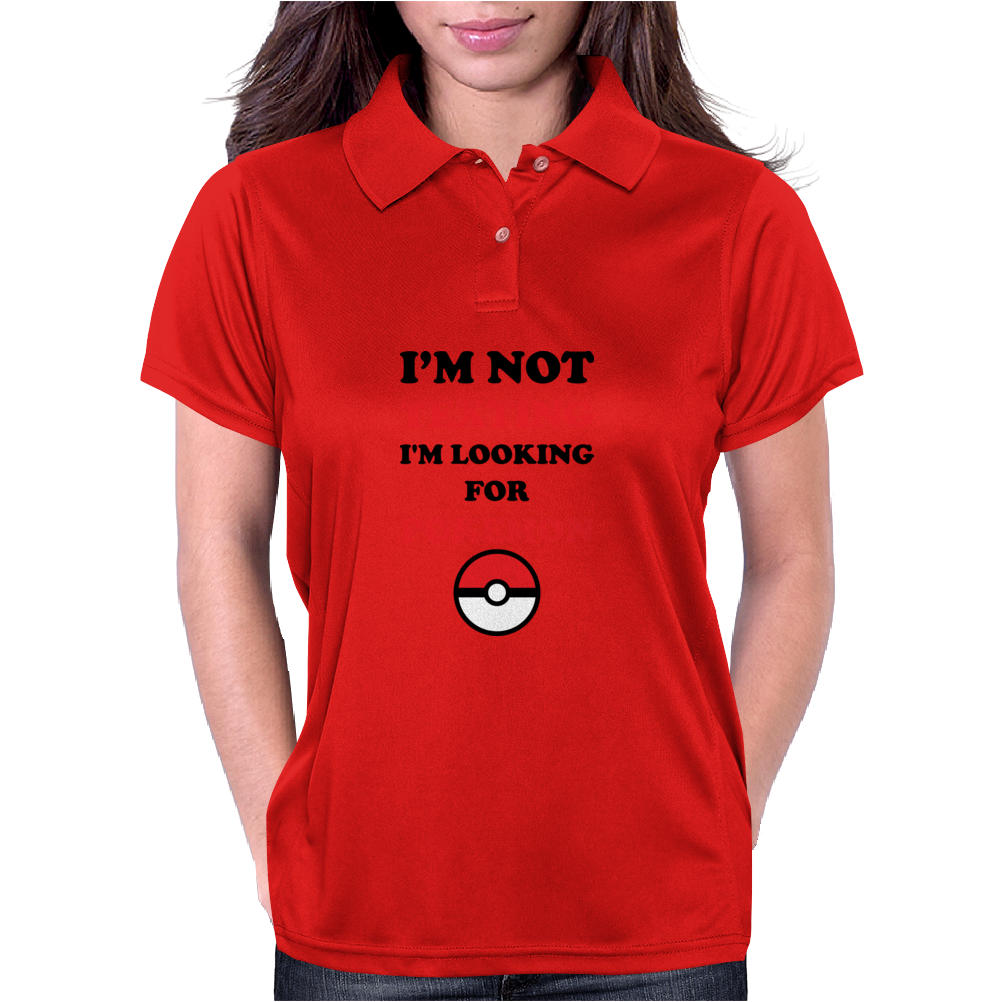 Looking For Pokemon Womens Polo