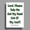 Lord, Please Help Me Poster Print (Portrait)