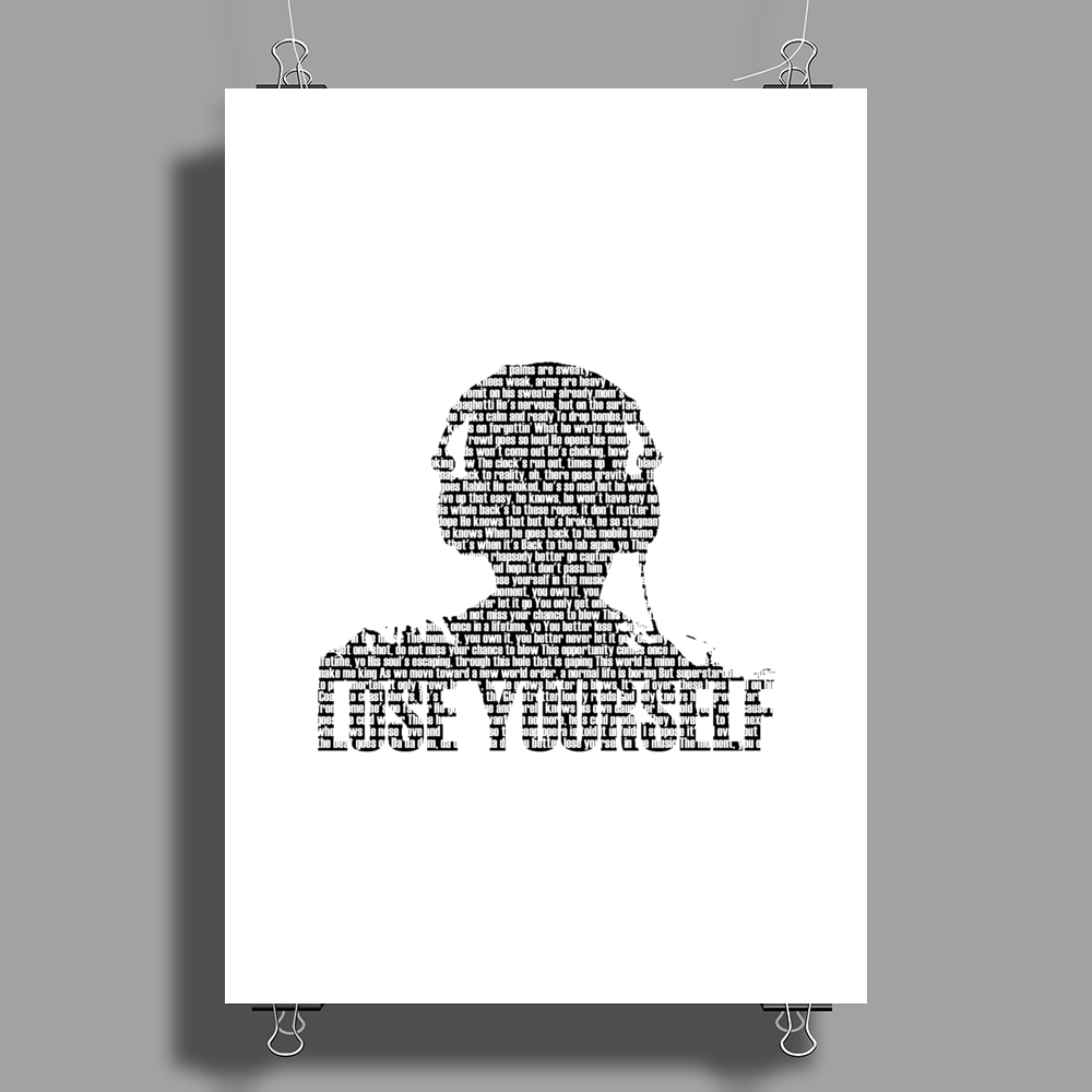 Lose Yourself Poster Print (Portrait)