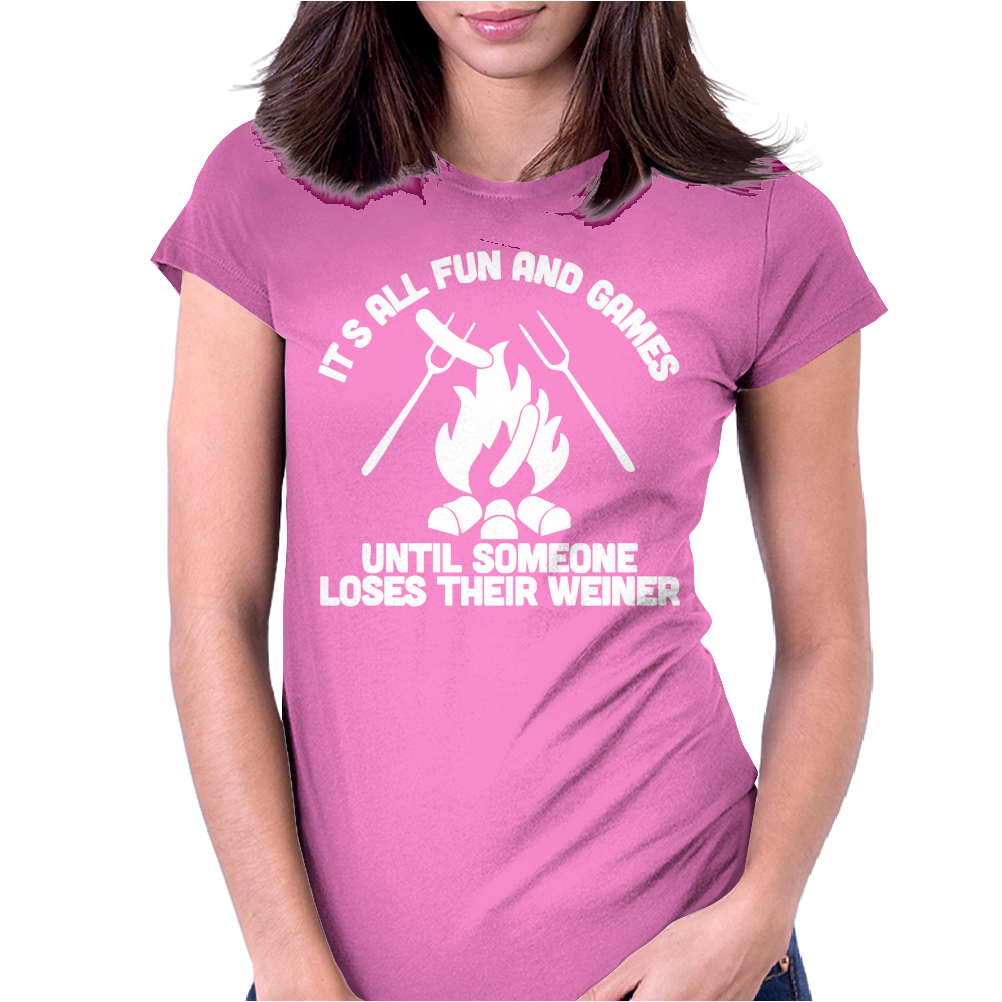LOSES A WEINER funny Womens Fitted T-Shirt