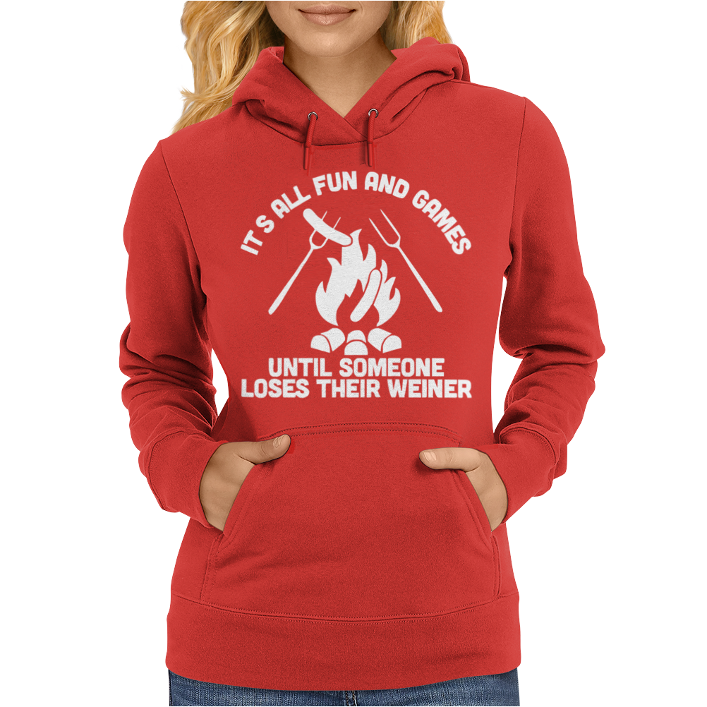 LOSES A WEINER funny Womens Hoodie