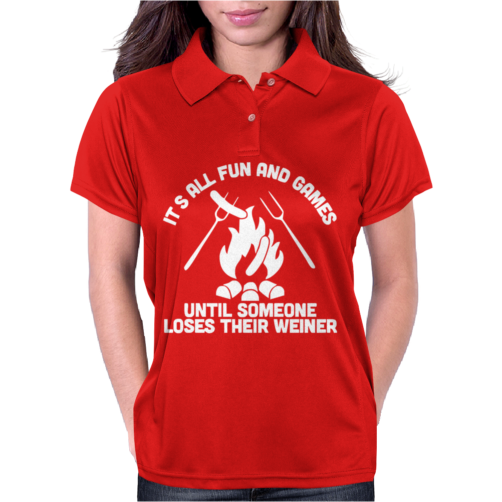 LOSES A WEINER funny Womens Polo