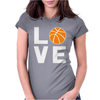 Love Basketball Womens Fitted T-Shirt