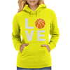 Love Basketball Womens Hoodie