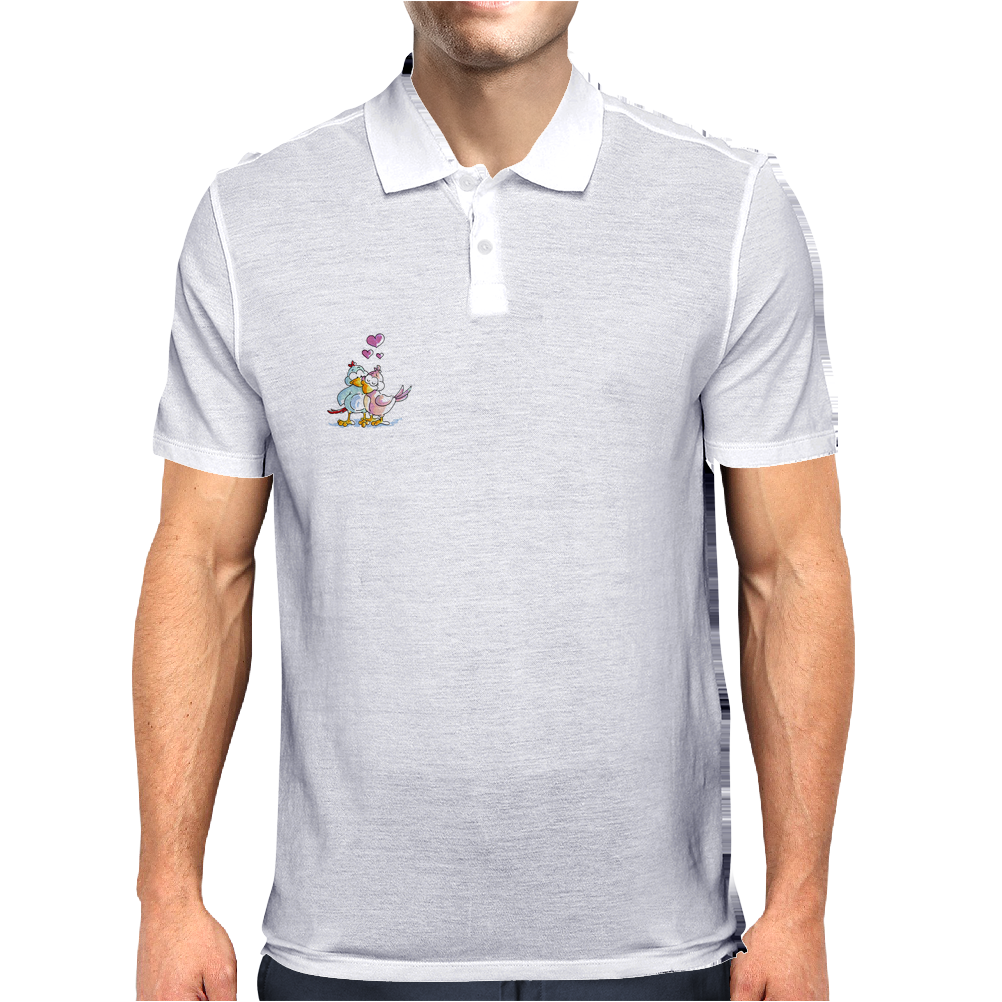Love Birds (Couple) Mens Polo
