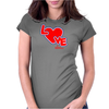 Love By Essence of Heart Womens Fitted T-Shirt