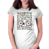 Love Fixie Road Bike Womens Fitted T-Shirt