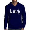 Love  Funny weapons retro war urban art guns knife cool peace Mens Hoodie