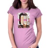Love Graphic Womens Fitted T-Shirt