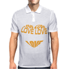 Love Heart Mens Polo