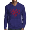 Love Heart Outline Valentine's Day Mens Hoodie
