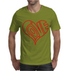 Love Heart Outline Valentine's Day Mens T-Shirt