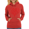 Love Heart Outline Valentine's Day Womens Hoodie