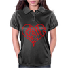 Love Heart Outline Valentine's Day Womens Polo