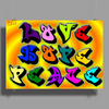 Love Hope Peace Poster Print (Landscape)