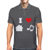 Love House Music Funny Mens Polo