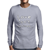 Love isn't defined,,(grey) Mens Long Sleeve T-Shirt