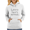 Love isn't defined,,(grey) Womens Hoodie