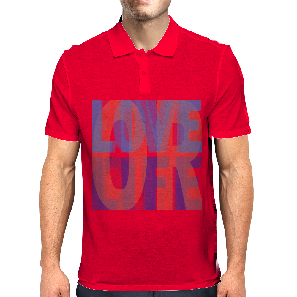 Love life, live more, or f**k off Mens Polo