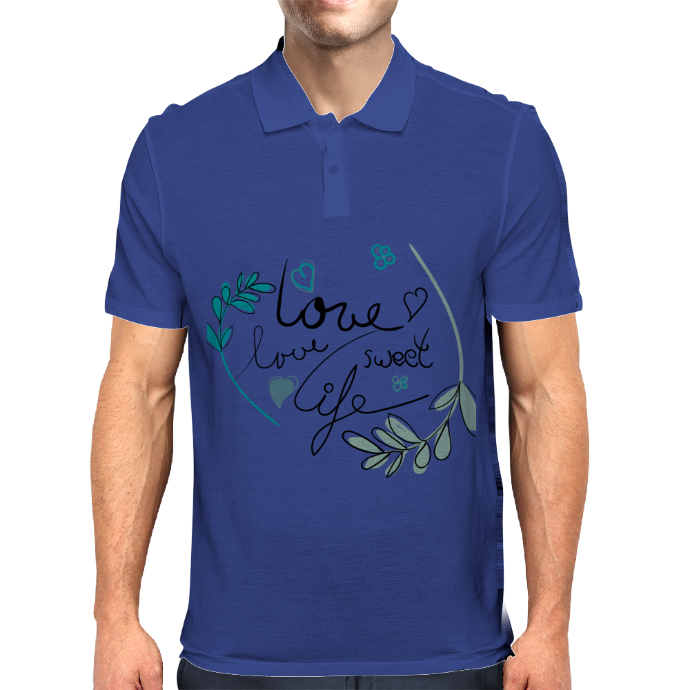 love life Mens Polo