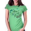 love life Womens Fitted T-Shirt