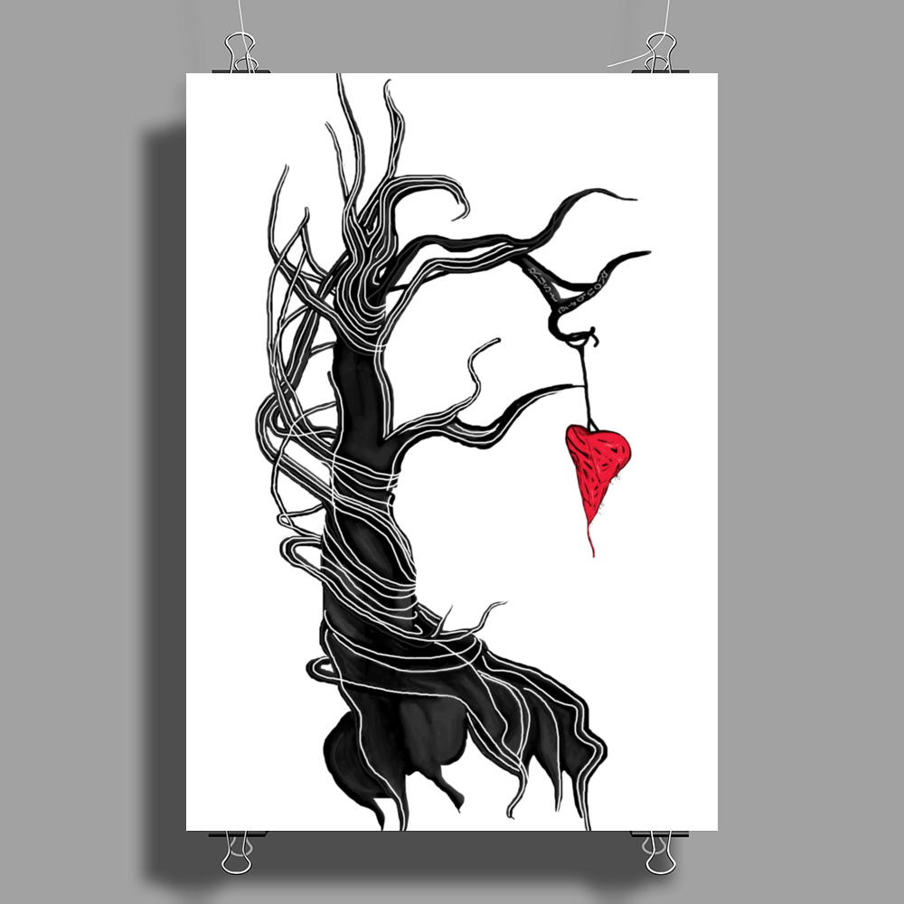 Love, like a tree Poster Print (Portrait)