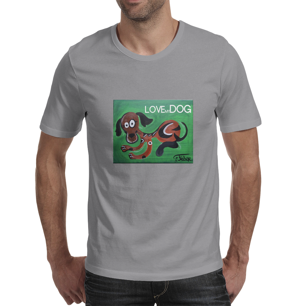 Love my Dog Mens T-Shirt
