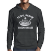 Love Peace and Bacon Grease Mens Hoodie