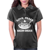 Love Peace and Bacon Grease Womens Polo