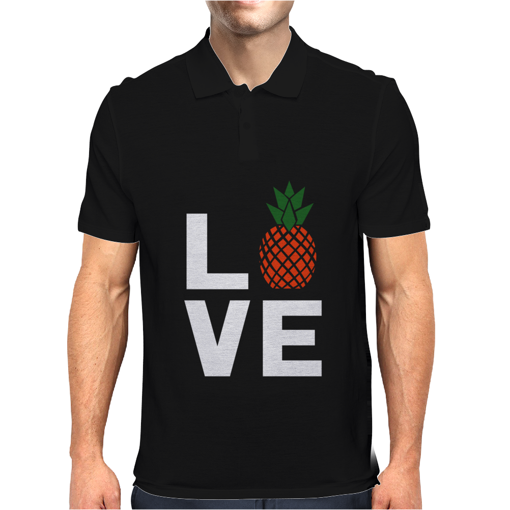 Love Pineapples Mens Polo