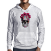 Love Skull with Roses Mens Hoodie