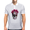Love Skull with Roses Mens Polo