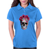 Love Skull with Roses Womens Polo