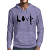 Love , Weapon Mens Hoodie