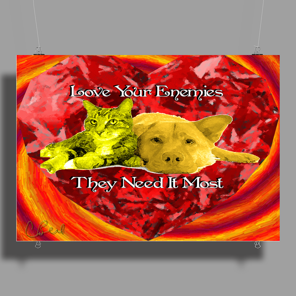 Love Your Enemies Poster Print (Landscape)