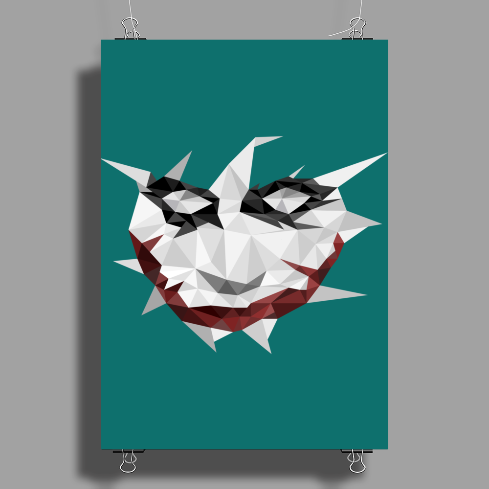 Low Poly Joker Poster Print (Portrait)