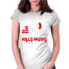Low Volume kills Music Womens Fitted T-Shirt
