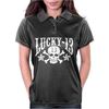 Lucky 13 Goth Punk Skull Star Womens Polo