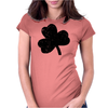 Lucky Four Leaf Clover Womens Fitted T-Shirt