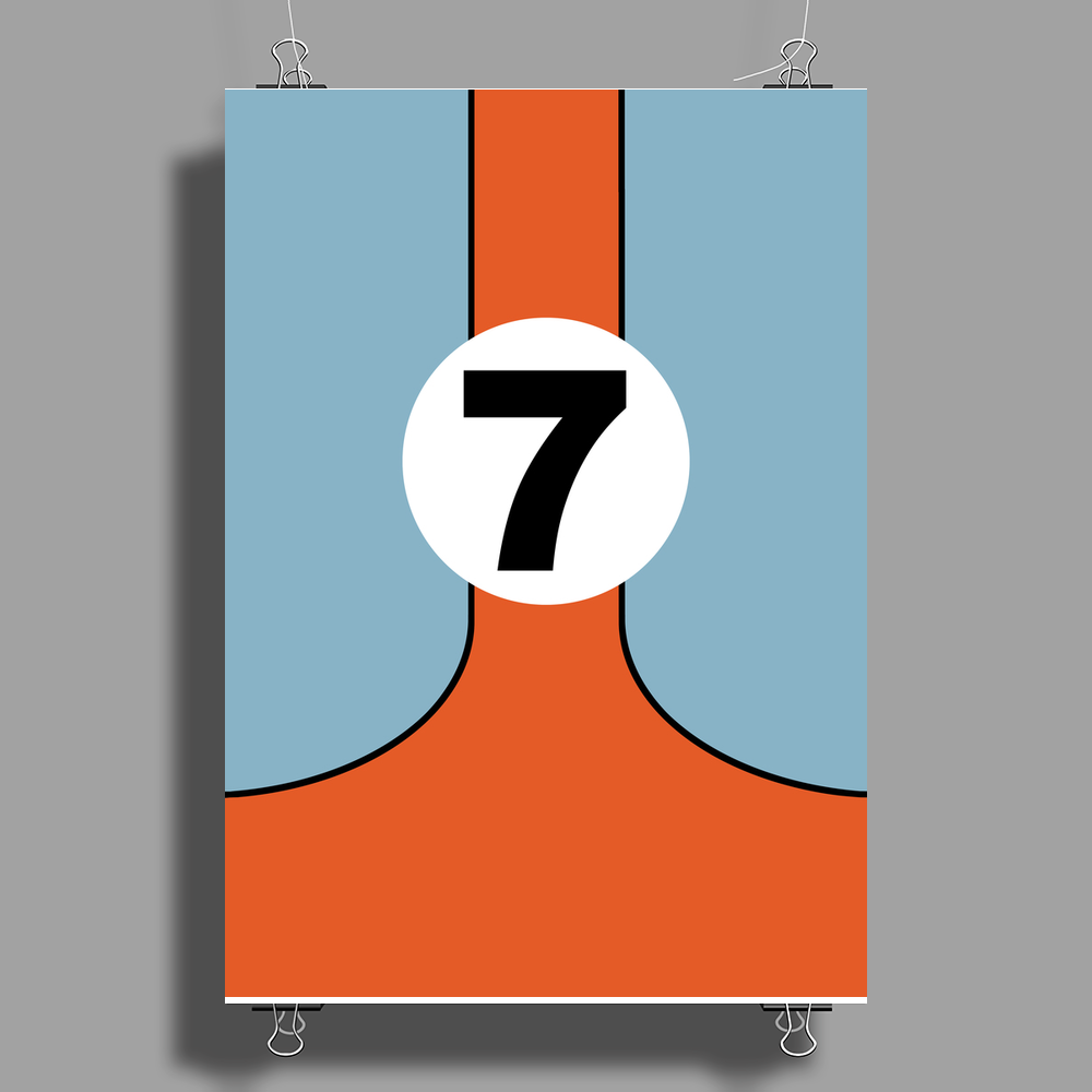 Lucky Number Seven Poster Print (Portrait)